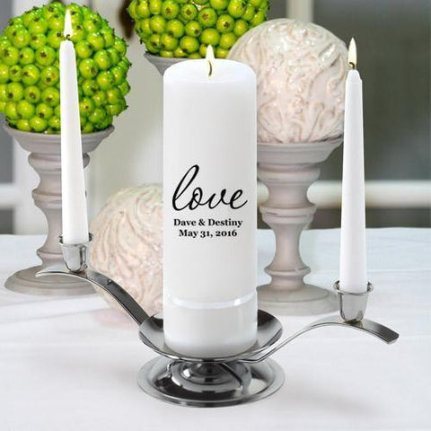 Personalized Premier Wedding Unity Candle w/Stand - G22Amore