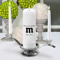 Personalized Premier Wedding Unity Candle w/Stand - MG10TheSmith