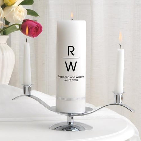 Personalized Premier Wedding Unity Candle w/Stand - MG5Duke - Candles - AGiftPersonalized