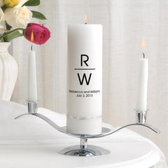 Personalized Premier Wedding Unity Candle w/Stand - MG5Duke