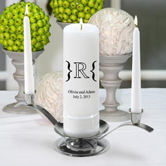 Personalized Premier Wedding Unity Candle w/Stand - MG7Luxe