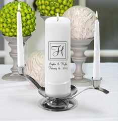 Personalized Premier Wedding Unity Candle w/Stand - X22Elegant - Candles - AGiftPersonalized