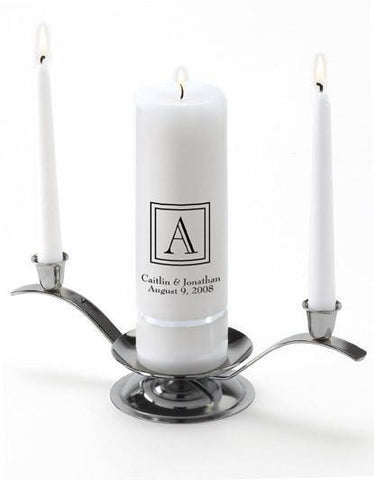 Personalized Premier Wedding Unity Candle w/Stand - Z23Classic - Candles - AGiftPersonalized