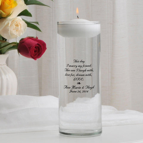 Personalized Floating Unity Candle - B2ThisDay - Candles - AGiftPersonalized