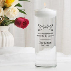 Personalized Floating Unity Candle - CP10ToHaveAndToHold - Candles - AGiftPersonalized