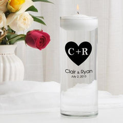 Personalized Floating Unity Candle - CP3CarvedHeart - Candles - AGiftPersonalized