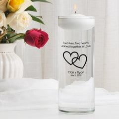 Personalized Floating Unity Candle - CP7TwoLivesTwoHearts - Candles - AGiftPersonalized