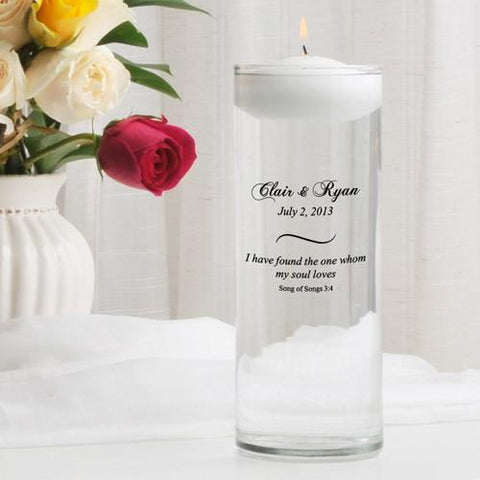 Personalized Floating Unity Candle - CP8SongOfSongs - Candles - AGiftPersonalized
