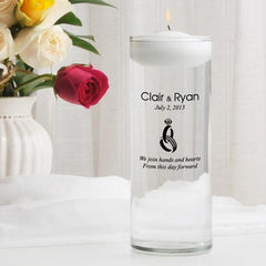 Personalized Floating Unity Candle - CP9HeartAndHands - Candles - AGiftPersonalized
