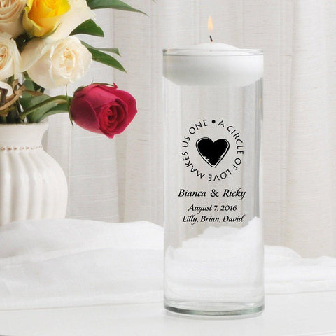 Personalized Floating Unity Candle - H8SecondMarriage - Candles - AGiftPersonalized