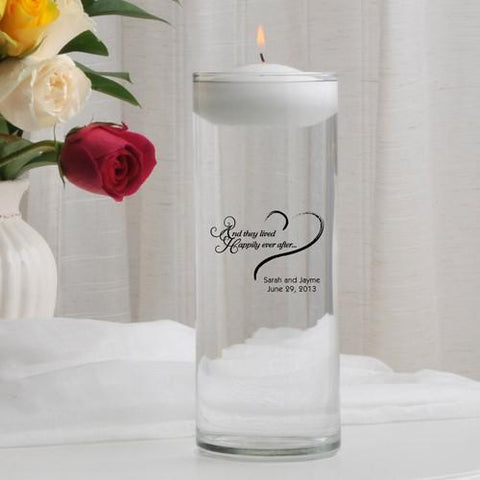 Personalized Floating Unity Candle - HEAHappilyEverAfter - Candles - AGiftPersonalized