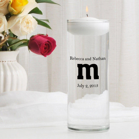 Personalized Floating Unity Candle - MG10TheSmith - Candles - AGiftPersonalized