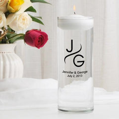 Personalized Floating Unity Candle - MG1Modern - Candles - AGiftPersonalized