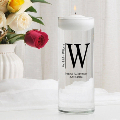 Personalized Floating Unity Candle - MG2Whitley - Candles - AGiftPersonalized
