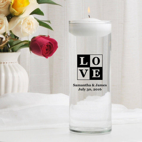 Personalized Floating Unity Candle - T18Love - Candles - AGiftPersonalized