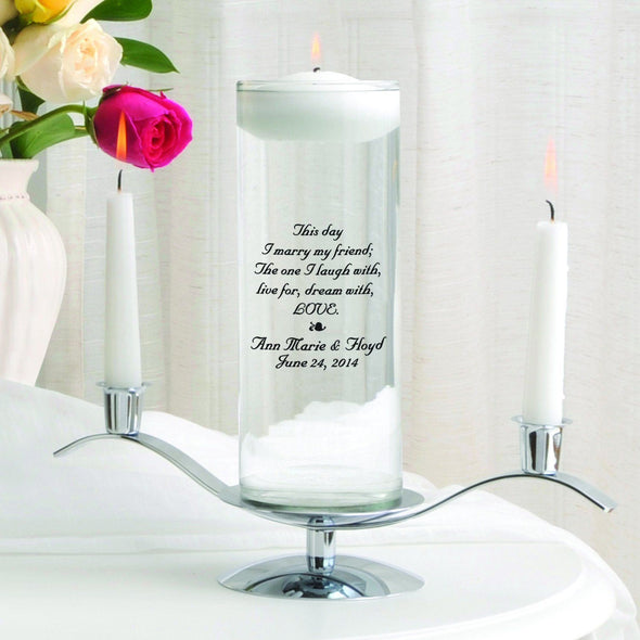 Personalized Floating Unity Candle Set - B2ThisDay - JDS