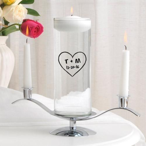 Personalized Floating Unity Candle Set - CP11HeartOfLove - JDS
