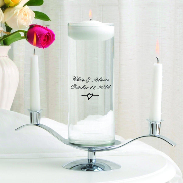 Personalized Floating Unity Candle Set - C3Devonshire - JDS