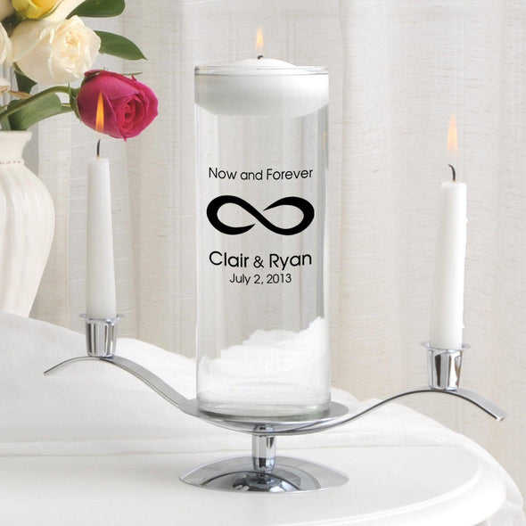 Personalized Floating Unity Candle Set - CP5NowAndForever - JDS