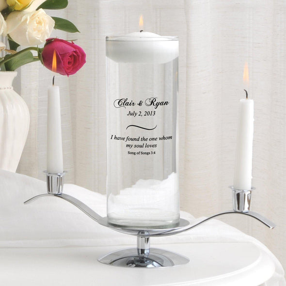 Personalized Floating Unity Candle Set - CP8SongOfSongs - JDS