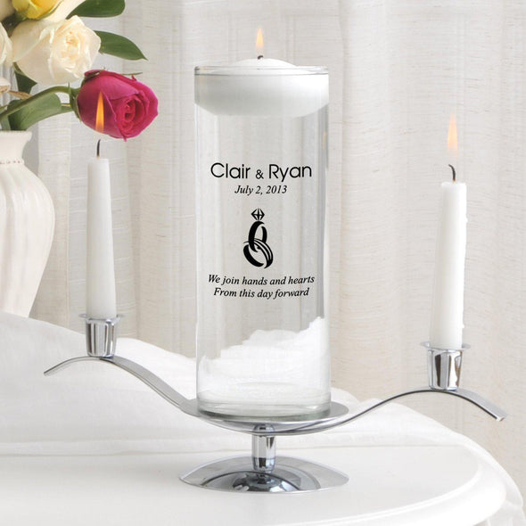 Personalized Floating Unity Candle Set - CP9HeartAndHands - JDS