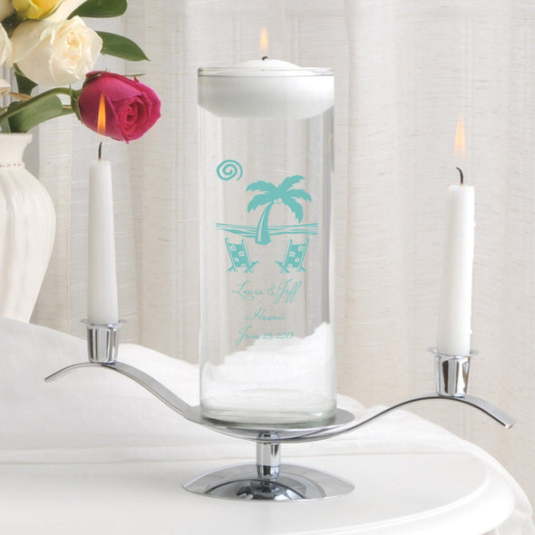 Personalized Floating Unity Candle Set - D1Destination - JDS