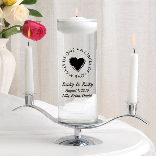 Personalized Floating Unity Candle Set - H8SecondMarriage - JDS