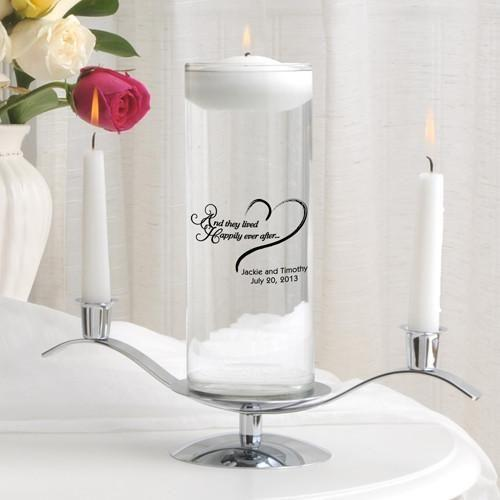 Personalized Floating Unity Candle Set - HEAHappilyEverAfter - JDS