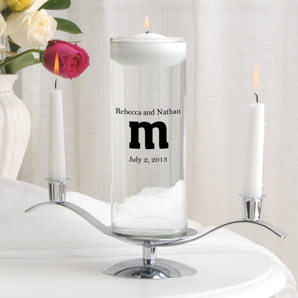 Personalized Floating Unity Candle Set - MG10TheSmith - JDS