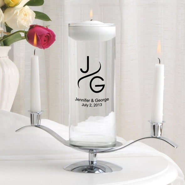 Personalized Floating Unity Candle Set - MG1Modern - JDS