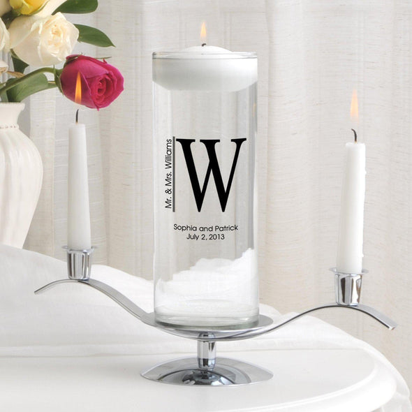 Personalized Floating Unity Candle Set - MG2Whitley - JDS