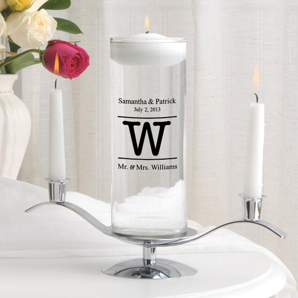 Personalized Floating Unity Candle Set - MG8Alexander - JDS