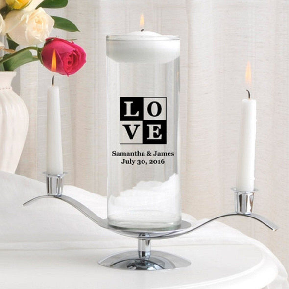 Personalized Floating Unity Candle Set - T18Love - JDS