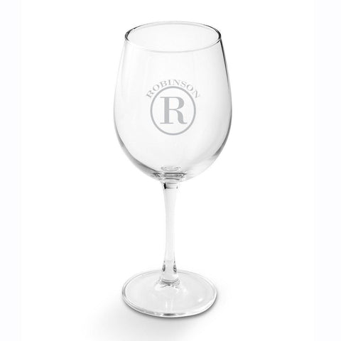 Personalized Wine Glasses - White Wine - Glass - 19 oz. - Circle