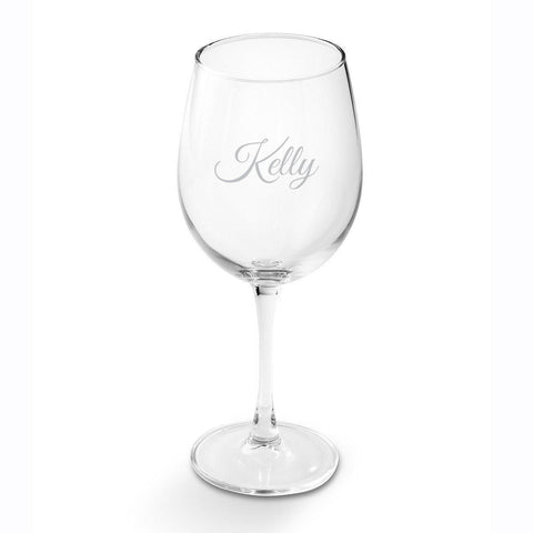 Personalized Wine Glasses - White Wine - Glass - 19 oz. - Script - Wine Gifts & Accessories - AGiftPersonalized