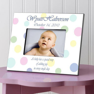 Personalized Children's Picture Frames - Polka Dot -  - JDS