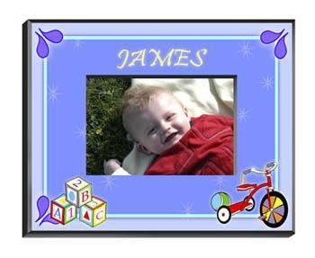 Personalized Little Boys Picture Frames - All - Blocks - JDS