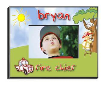 Personalized Little Boys Picture Frames - All - Fireman - JDS