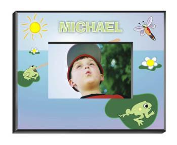 Personalized Little Boys Picture Frames - All - Frog - JDS