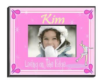 Personalized Little Girls Collection Picture Frames - All - Iceskater - JDS