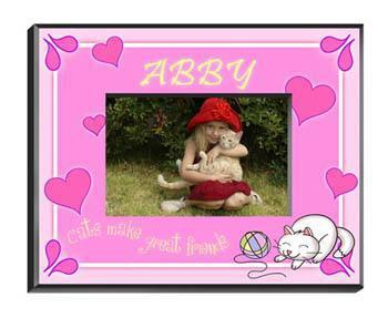 Personalized Little Girls Collection Picture Frames - All - Kitten - JDS