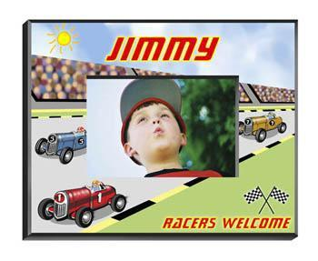Personalized Little Boys Picture Frames - All - Racer - JDS