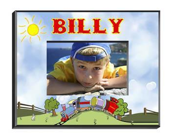 Personalized Little Boy Children's Picture Frames - All - Train - JDS