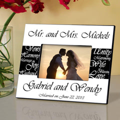 Personalized Frame - Mr. and Mrs. Wedding Picture at AGiftPersonalized