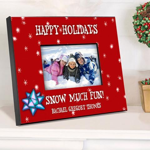 Personalized Family Red Holiday Picture Frame -  - JDS