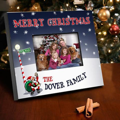 Personalized Santa Family Holiday Picture Frame -  - JDS