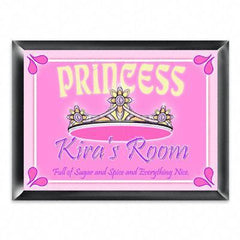 Personalized Kid's Room Sign - Princess -  - Gifts for Kids - AGiftPersonalized