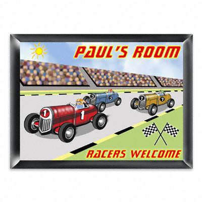 Personalized Kid's Room Sign - Racer -  - Gifts for Kids - AGiftPersonalized