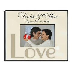 Personalized Parchment Love Picture Frame -  - Frames - AGiftPersonalized