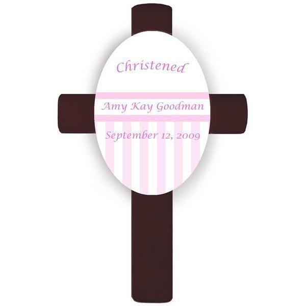 Personalized Childrens Cross - Pink